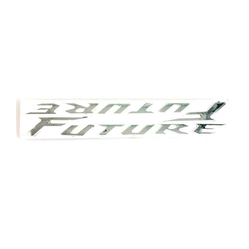 Tem chữ nổi dán xe Future huyền thoại xi bóng ( Màu Bạc )