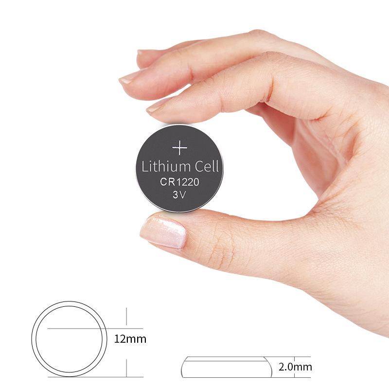 Vỉ 5 Viên Pin CR1220 Lithium 3V Doublepow Dùng Cho Remote ô tô, xe máy, cân điện tử, đồng hồ, máy đo kĩ thuật, CMOS
