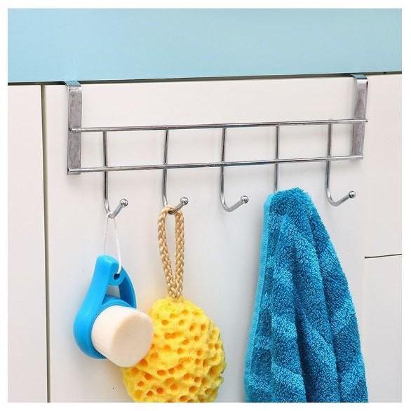 Móc Inox 304 Treo Đồ Gắn Sau Cửa Nhà Bếp Nhà Tắm, Giá Treo Đồ Thông Minh