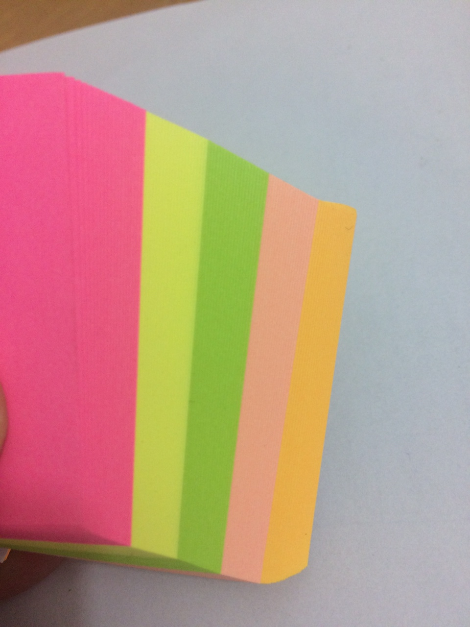 Combo 5 Tập Giấy Note Dạ Quang 5 màu cỡ 3x3