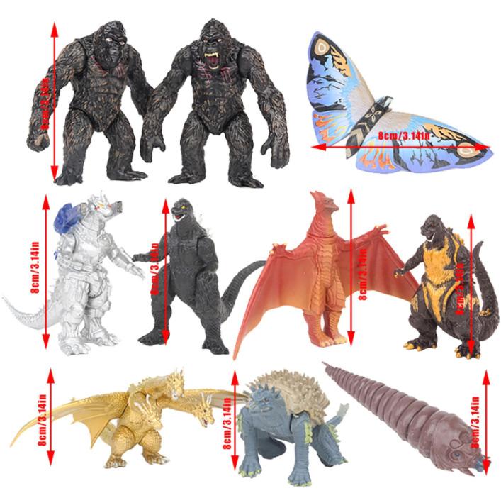 Bộ 10 Mô Hình Godzilla vs Kong Trong Godzilla: King of the Monsters và Kong: Skull Island