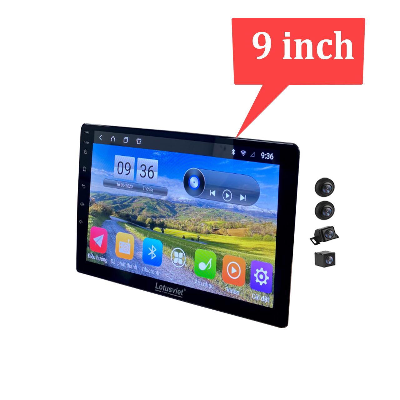 Bộ kết hợp màn hình DVD Android và Camera 360 độ 2 trong 1 cao cấp chuẩn AHD dùng cho các loại xe ô tô, xe hơi AHD-360 - Hàng Chính Hãng