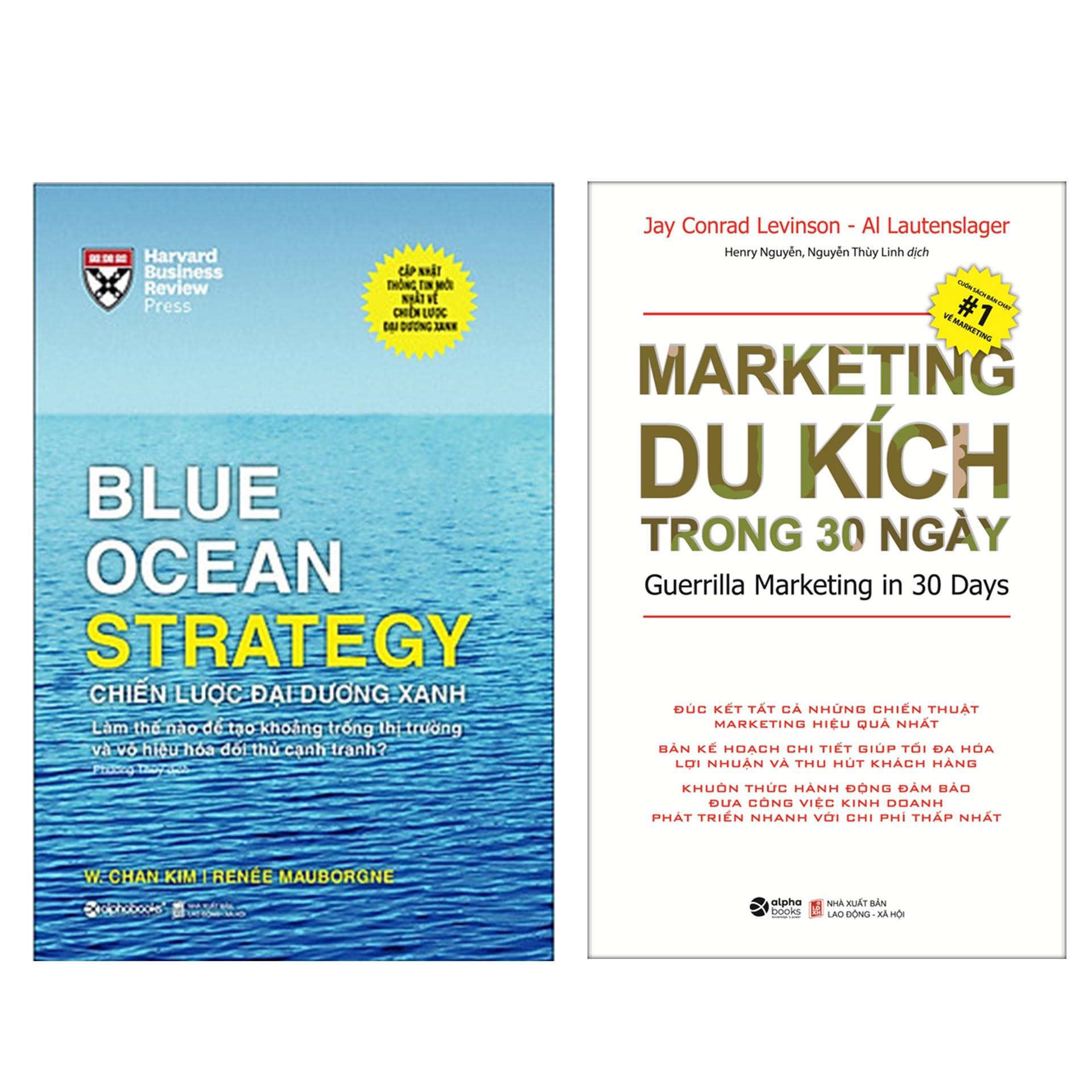 Combo Sách : BLUE OCEAN STRATEGY - Chiến Lược Đại Dương Xanh + Marketing Du Kích Trong 30 Ngày (Tái Bản 2020)