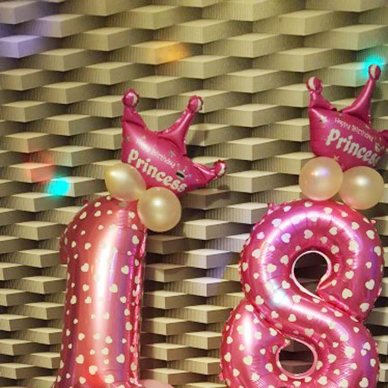 Bong bóng trang nhôm hình vượng miệng trang trí tiệc sinh nhật cho bé
