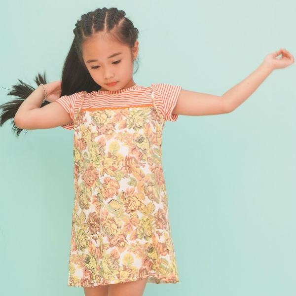 Set Bộ Váy Yếm Kèm Áo Họa Tiết Hoa Ugether UKID213 - Nhiều Màu 9 - 10 Tuổi