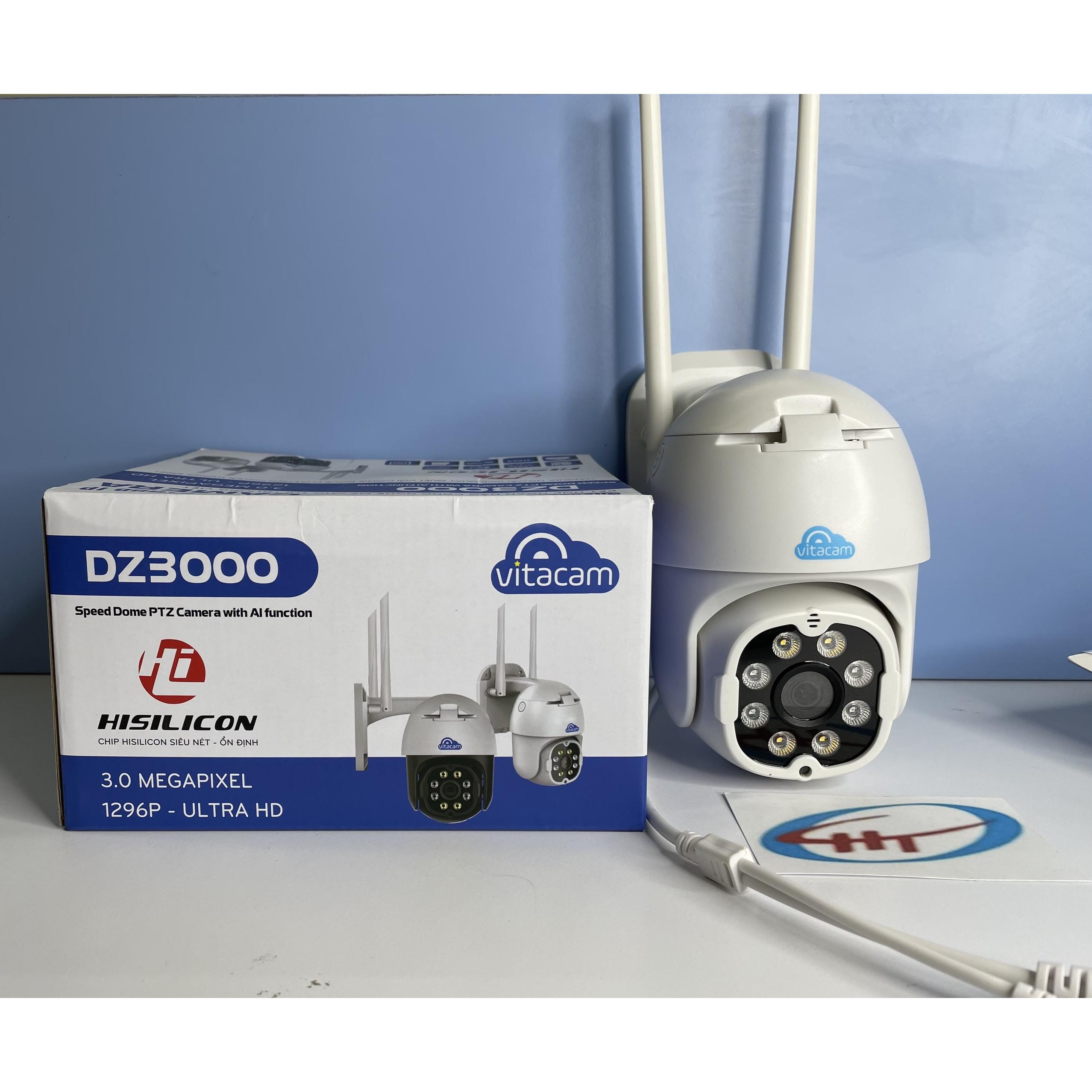 Camera Ip Wifi Ngoài Trời Vitacam DZ3000 3.0MPx,KÈM THẺ NHỚ 64G- Hàng Chính Hãng