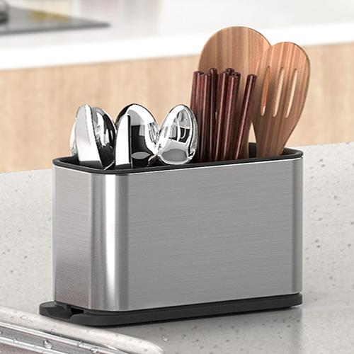 Hộp mini đựng đũa nhà bếp, Khay inox chống gỉ đựng đũa nhà bếp