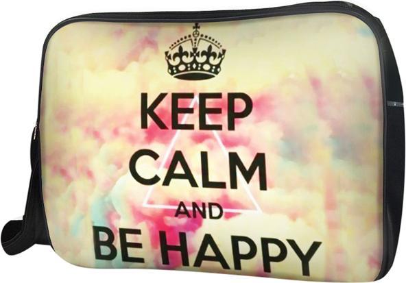 Túi Đeo Chéo Hộp Unisex Keep Calm & Be Happy Live Free -TCTE122 34 x 9 x 25 cm