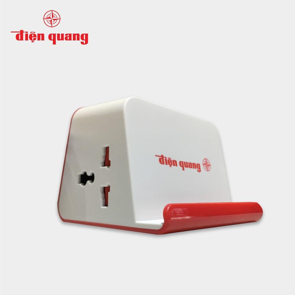 Ổ cắm Điện Quang ĐQ ESK 2WR 23-3U (2 lỗ 3 chấu, 3 USB, dây dài 2m, màu trắng đỏ)