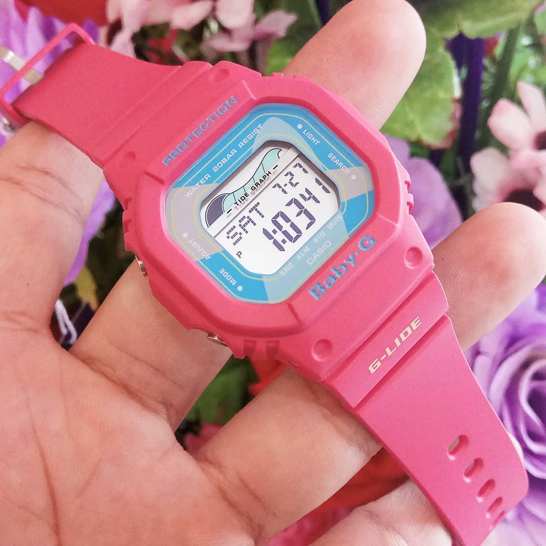 Đồng Hồ Nữ Casio Baby G BLX-560VH-4DF - Chính Hãng - Dây Nhựa Màu Hồng