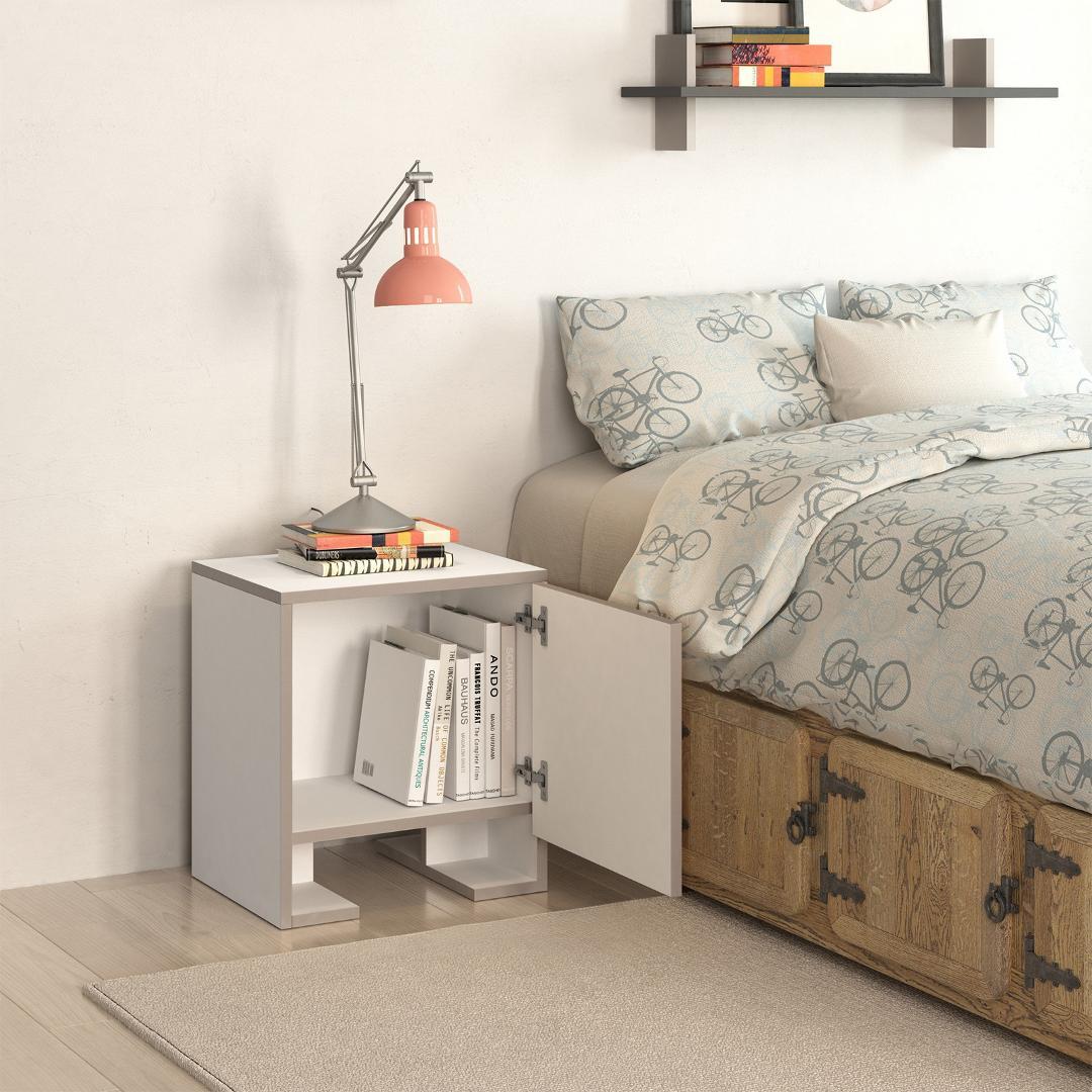 Tủ gỗ đầu giường hiện đại SMLIFE Nelson