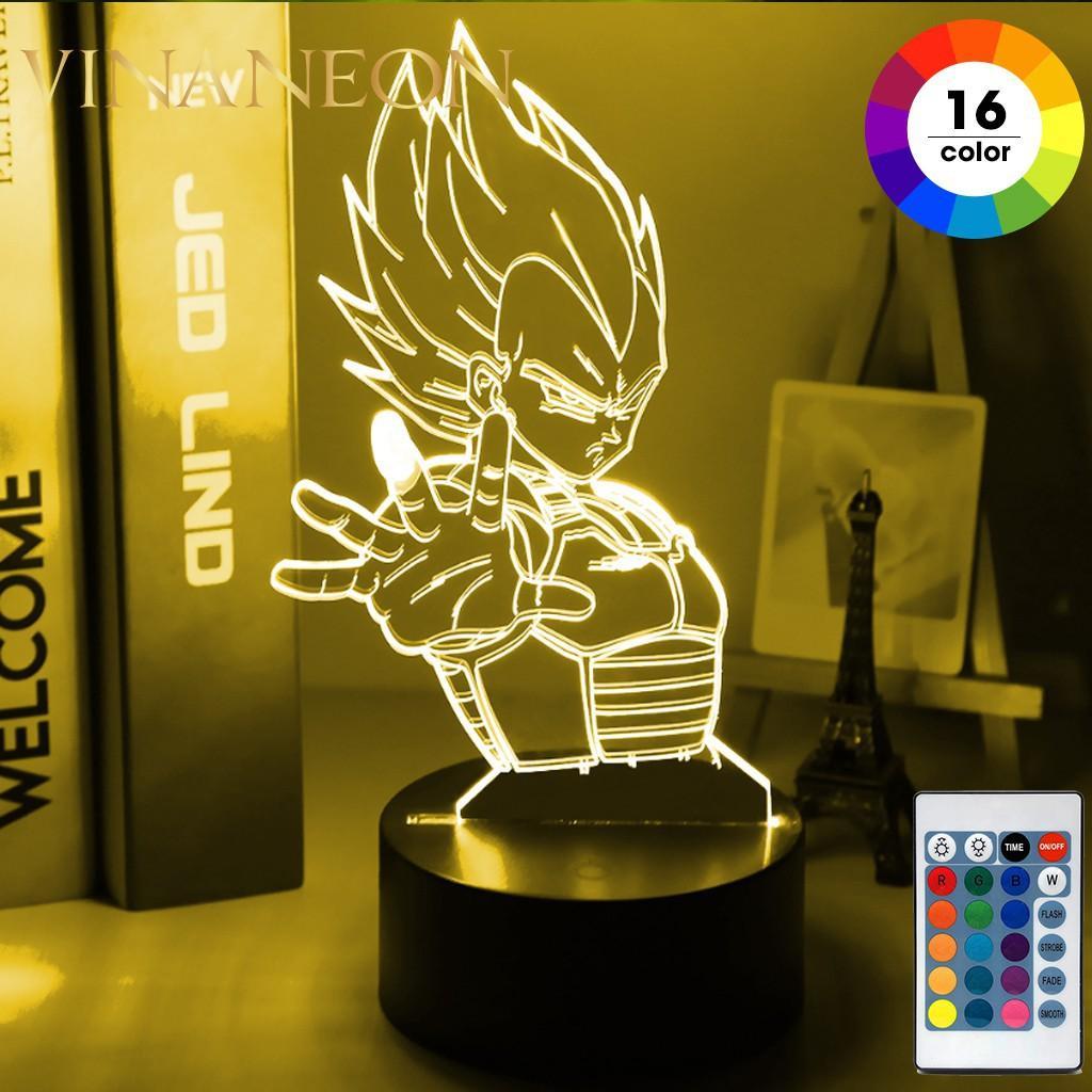 Tấm Mica Đèn Led Trang Trí Bàn Làm Việc, Phòng Ngủ DRAGONBALL Cho Anh Em Đam Mê Anime