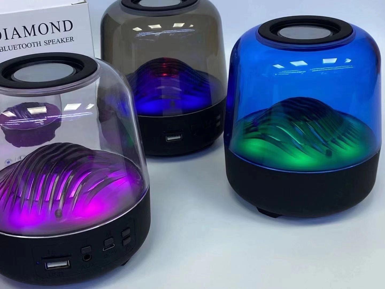 Loa Bluetooth Big Diamond L17 Lanith - Loa Mini Không Dây Di Động - Thiết Kế Trong Suốt, Đèn Led Đổi Màu Kiêm Đèn Ngủ - Kết Cấu Âm Thanh Vòm Siêu Hay Bass Ấm - Công Suất 5W, Có Khe Cắm Thẻ Nhớ - LBD00017-CAP00001