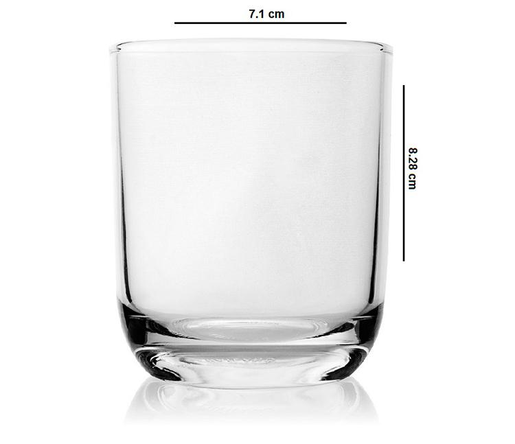 Bộ 6 Ly Thủy Tinh Bầu Lùn Uống Nước Camdaco (225ml)