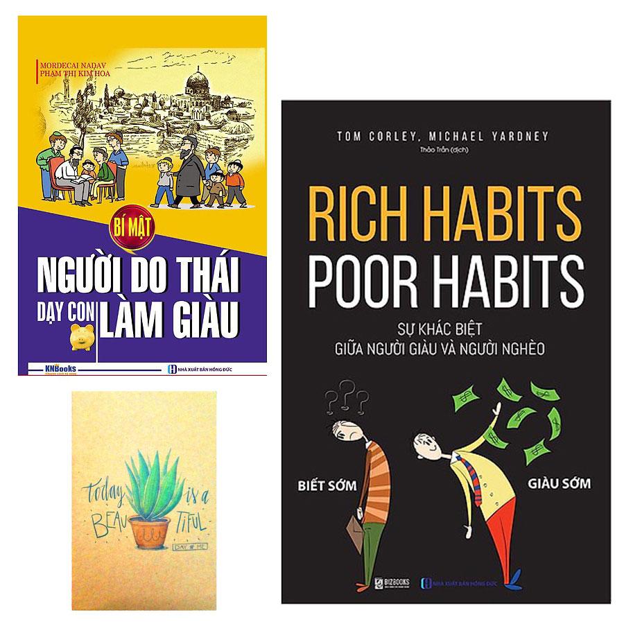 Combo Rich Habits - Poor Habits Sự khác biệt giữa người giàu và người nghèo và Bí Mật Người Do Thái Dạy Con Làm Giàu ( Tặng Kèm Sổ Tay Xương Rồng)