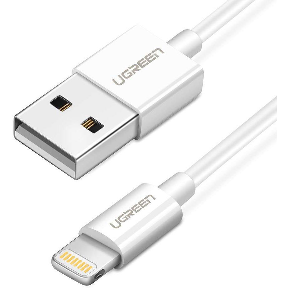 Dây USB lighting dài 1m có chip mFI cao cấp chính hãng UGREEN 20728
