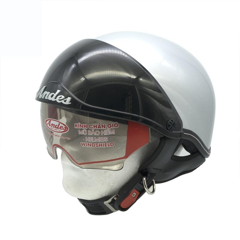Mũ Bảo Hiểm Nửa Đầu ANDES 3S 139 Giấu Kính