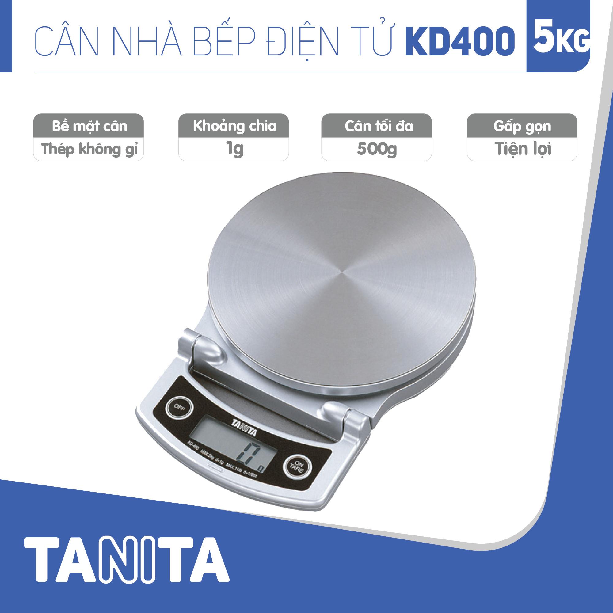 Cân điện tử nhà bếp TANITA KD400 (5kg) (Chính hãng Nhật Bản), Cân thực phẩm 5kg, Cân thức ăn 5kg, Cân nhà bếp 5kg, Cân Nhật, Cân trọng lượng, Cân chính hãng, Cân thực phẩm, Cân thức ăn, Cân tiểu ly điện tử, Cân chính xác, Cân làm bánh