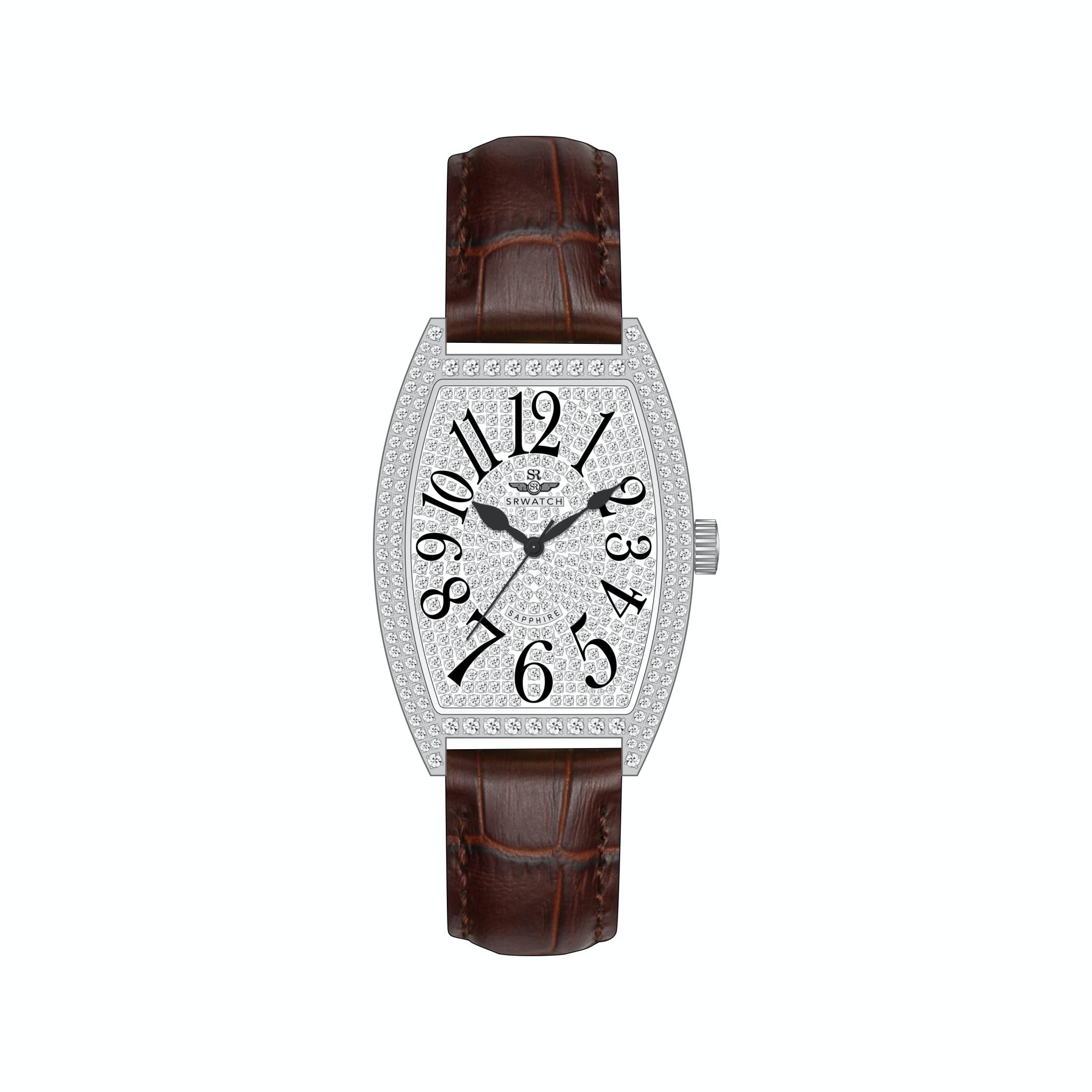 Đồng hồ Nữ SRWatch SL5001.4402BL - Dây da - Thời trang - Đính đá