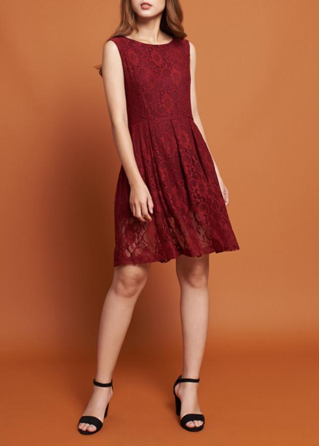 Đầm Nữ Ren Mint Basic 1455NA - Đỏ Size L