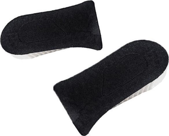 Lót giày tăng chiều cao gel Nửa bàn 3 lớp (4.2 cm) (Màu Đen)