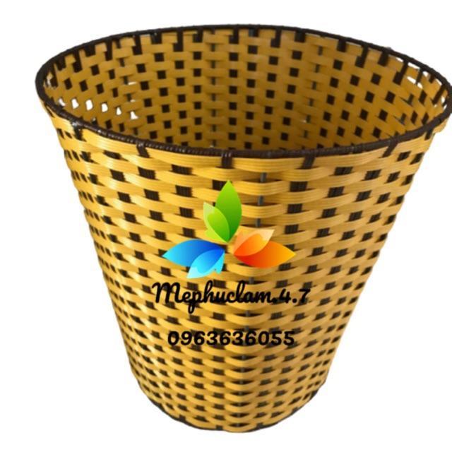 Sọt nhựa giả mây tròn dùng đựng đồ trong khách sạn, nhà nghỉ, hộ gia đình, văn phòng,...