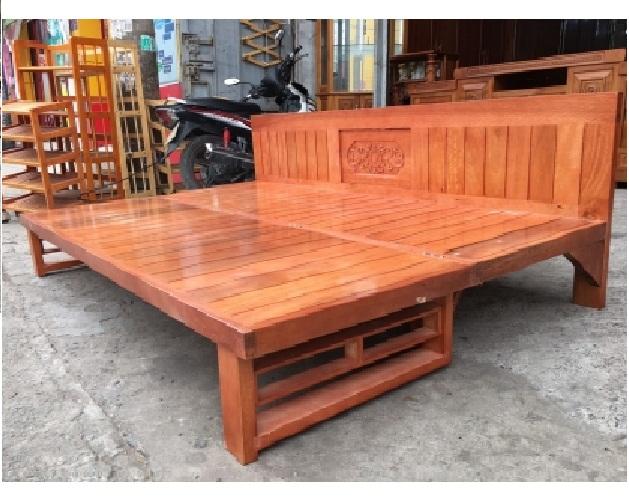 Ghế gấp thành giường gỗ giàng giàng 1m2