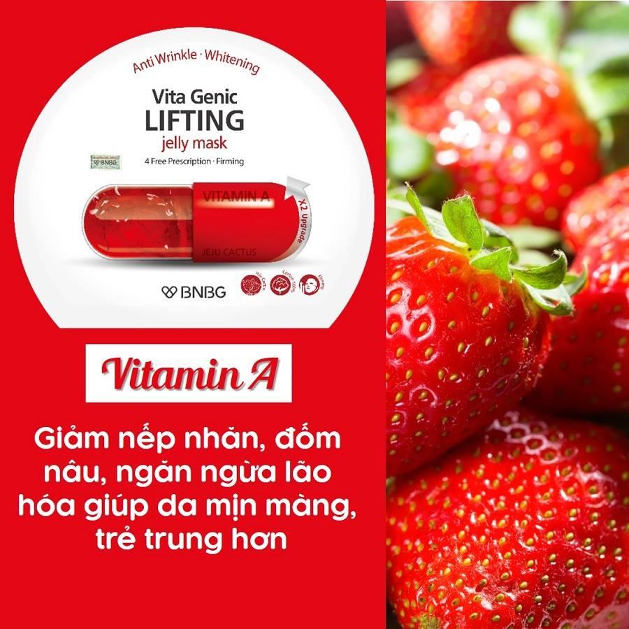 Combo 10 Mặt nạ chống lão hóa da BNBG Vita Genic Lifting Jelly Mask 30ml x 10