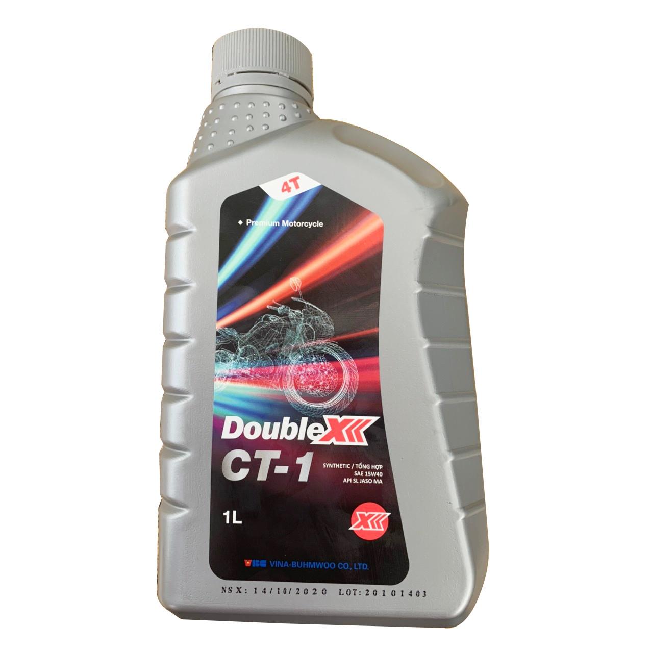 Dầu nhớt xe số DOUBLE X  CT-115W40, Dầu nhớt bán tổng hợp 4T