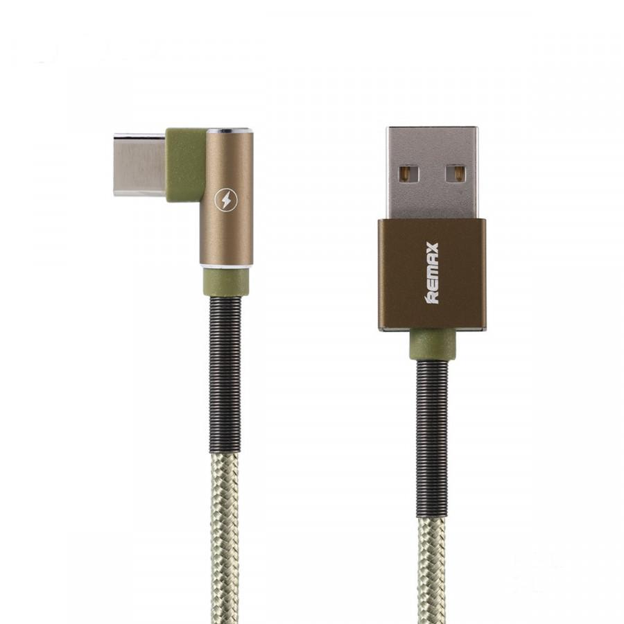 Cáp Sạc Vải Quấn Lò Xo 2 đầu Micro USB Remax RC-119a -Hàng Chính Hãng
