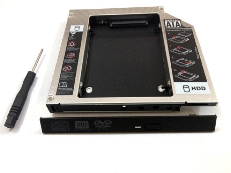 Khay Caddy Bay HDD SSD SATA 3 9.5mm - Khay ổ đĩa cứng thay thế ổ DVD