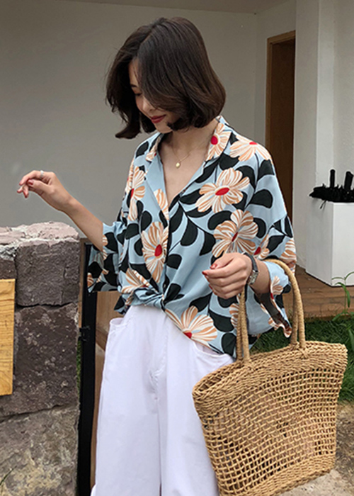 Áo sơ mi hoa hướng dương kiểu dáng Kimono ArcticHunter, thời trang phong cách trẻ