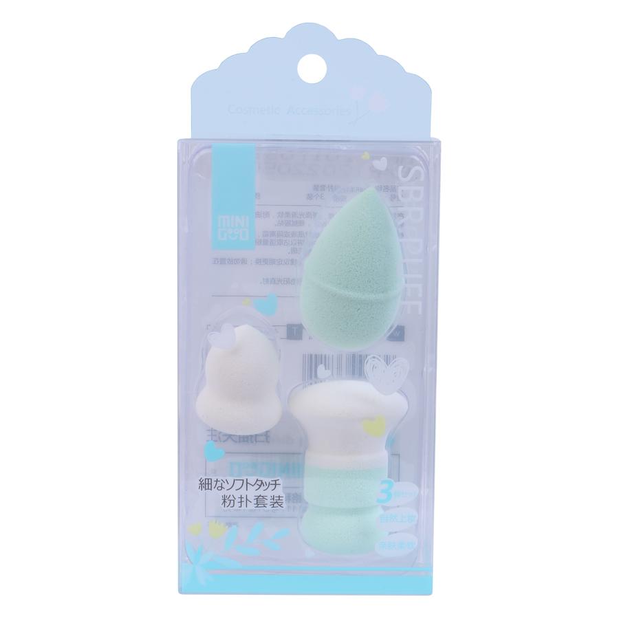 Mút Trang Điểm SBR Minigood DMCTB25 (3 Miếng) - Màu Ngẫu Nhiên