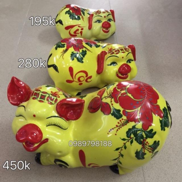 Heo tiết kiệm gốm sứ Bát Tràng cao cấp heo Tài Lộc
