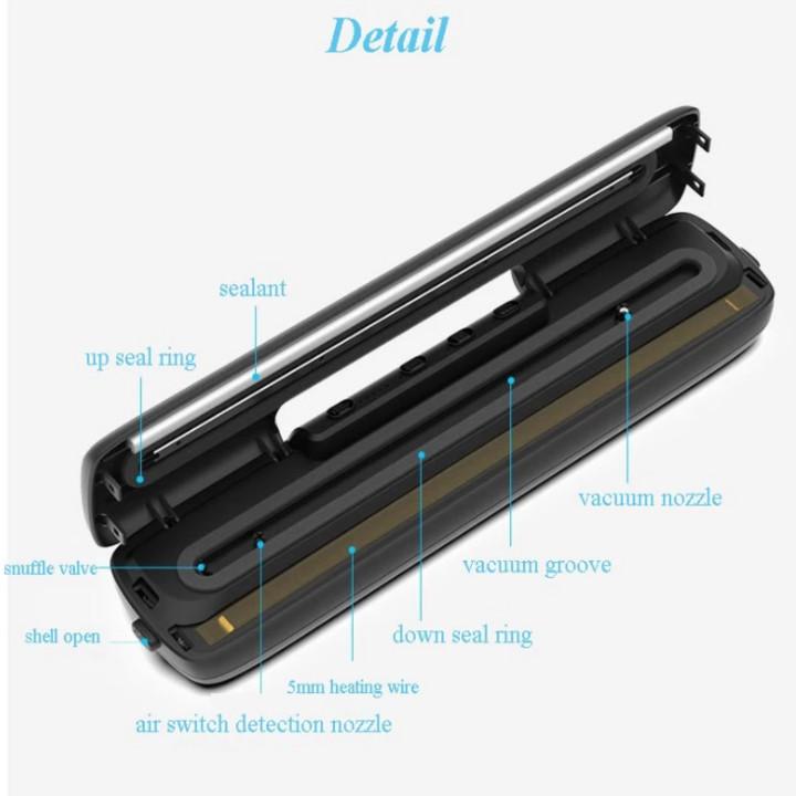Máy hút chân không khô và ướt cao cấp AP-12X tích hợp 5 chế độ điểu khiển nhiệt độ, hàn được miệng túi dày 5mm, hàn bề ngang túi tối đa túi là 32cm