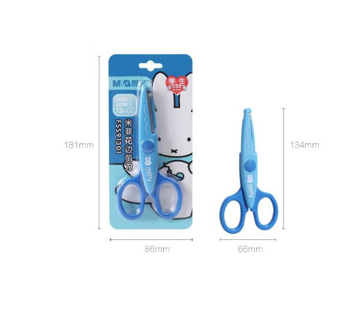 Kéo cắt giấy răng cưa M&G FSS91301 135mm an toàn cho bé sáng tạo