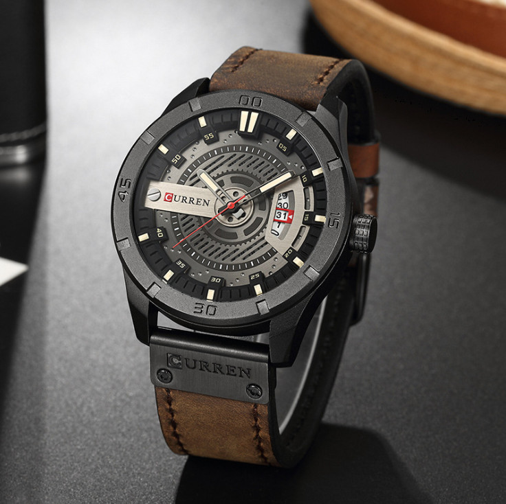 Đồng hồ thời trang nam dây da cao cấp Curren 8301