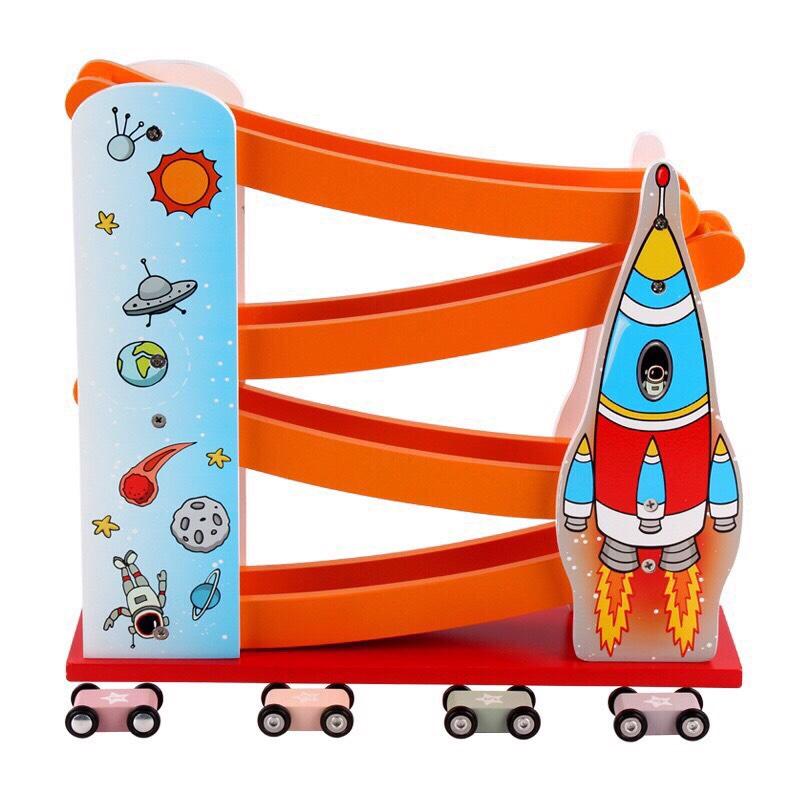 Bộ đồ chơi cầu trượt ô tô (đồ chơi bằng gỗ) BK