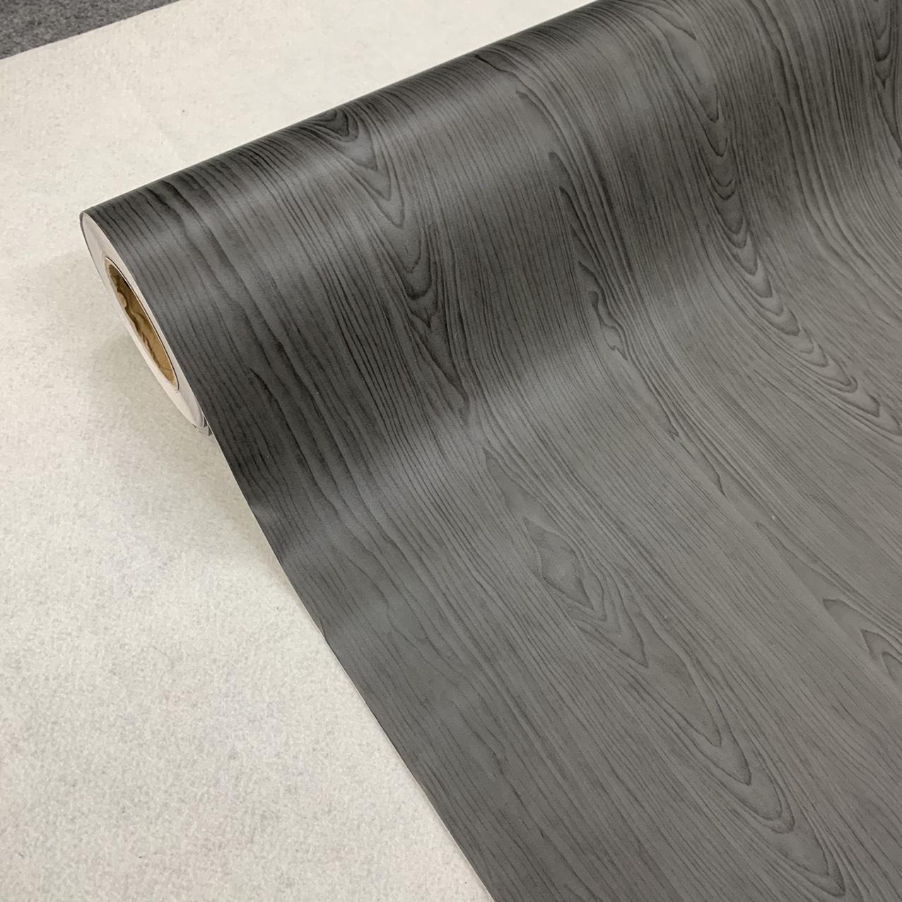 Decal gỗ màu đen - Giấy dán tường bàn tủ có sẵn keo ( khổ 1,2m - Mẫu G13 )