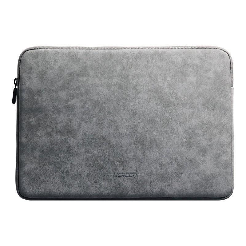 Túi đựng bảo vệ iPad, laptop bằng da lộn, lót lông chống sốc, kích thước 13.3 inch, 15.4 inch UGREEN LP187 - Hàng chính hãng
