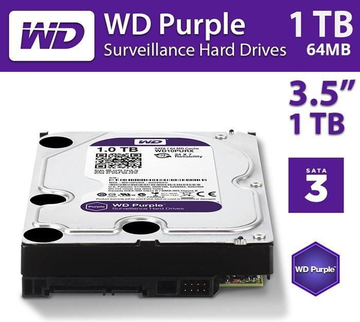Ổ Cứng HDD WD PURPLE 1TB - Hàng chính hãng