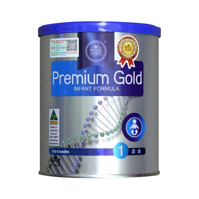 Sữa Hoàng Gia Úc Premium Gold 1-400g Dành Cho Trẻ Sơ Sinh Từ 0 - 6 Tháng Tuổi