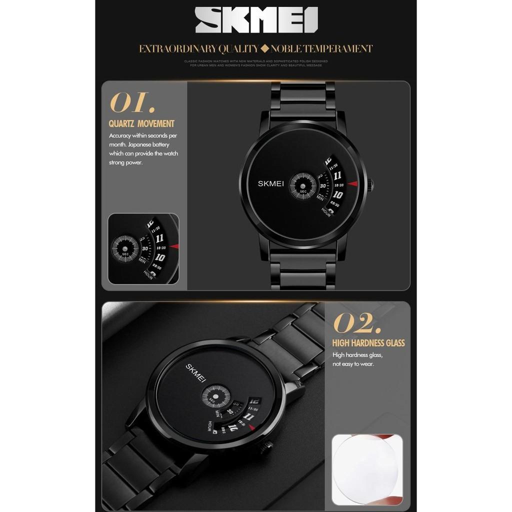 Đồng hồ thể thao Nam SKMEI 1260 bằng thép không gỉ sáng tạo thời trang chống nước