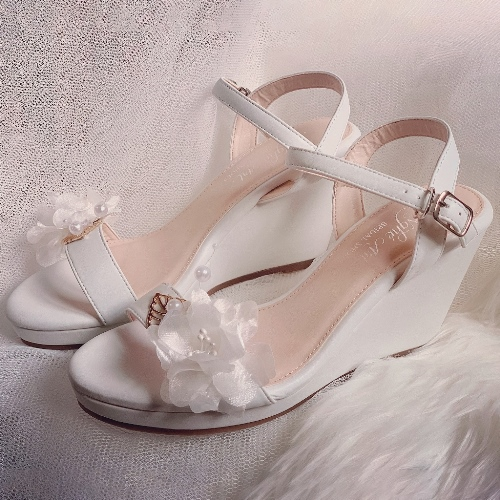 Giày cưới Nghé Art đế xuồng trắng 254