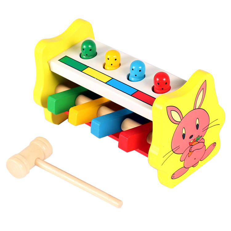 Đập thỏ vàng đồ chơi gỗ cho bé