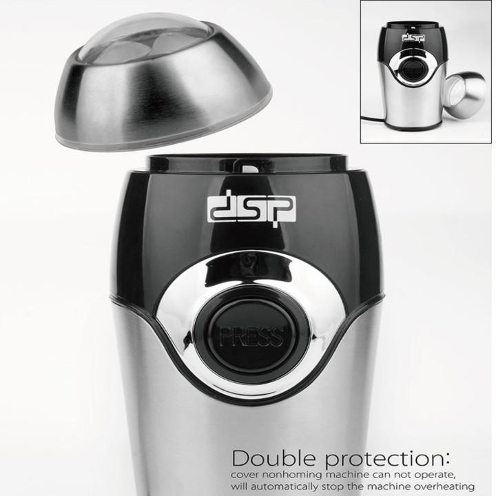 Máy xay cà phê và các loại hạt thương hiệu cao cấp DSP KA3001 - Công suất: 200W - Chất liệu: Thép không gỉ - Hàng Nhập Khẩu