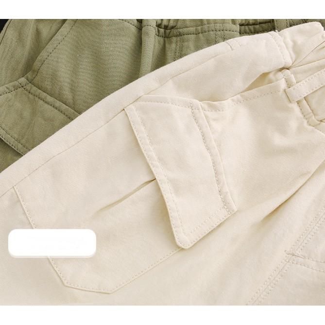 Quần jean Unisex(trai/gái) túi hộp cách điệu thời trang cho bé