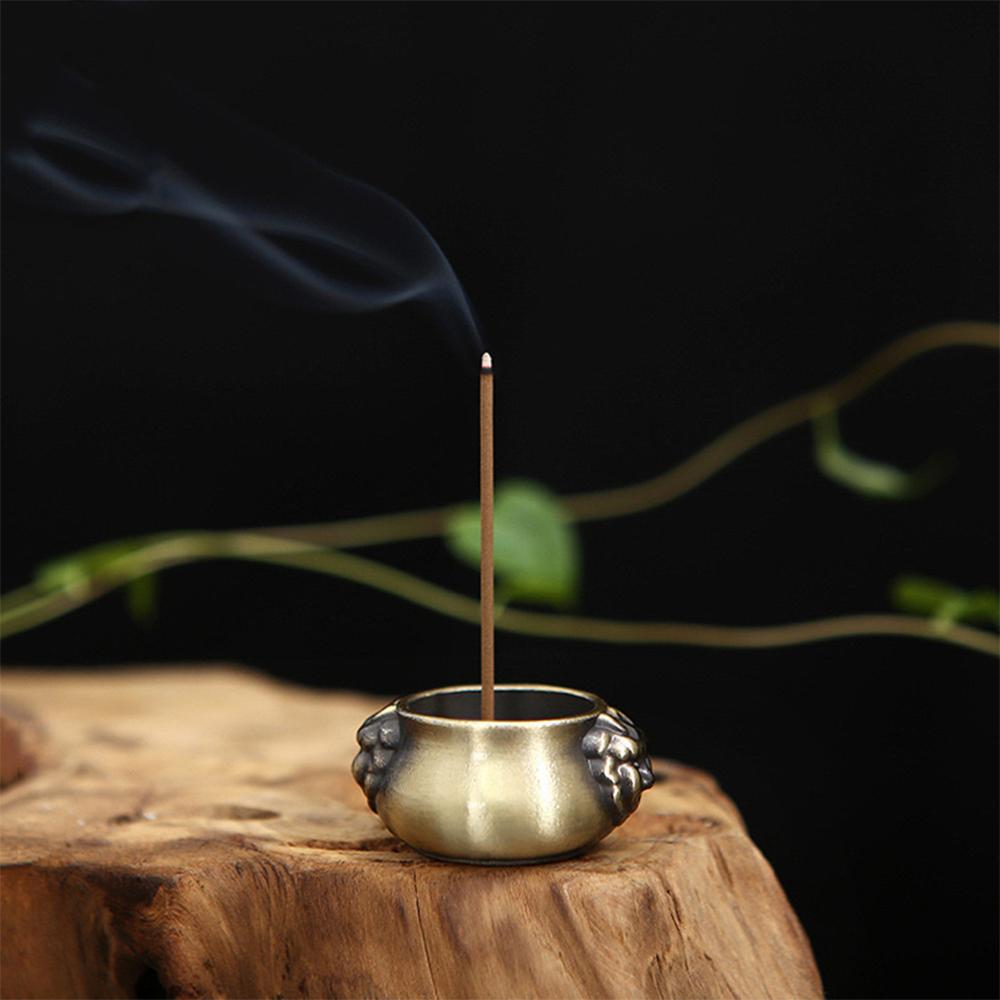 Đế cắm nhang vòng, đặt hương cây hình lư hương thắp hương để lư trầm phụ kiện thác khói