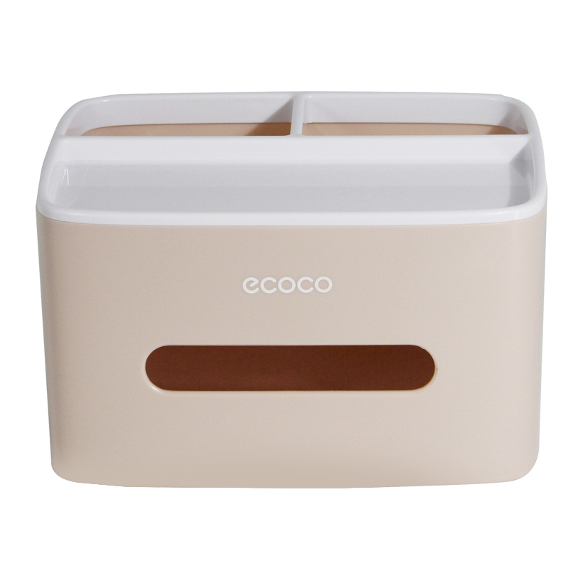 Hộp đựng giấy ăn, hộp giấy đa năng đựng đồ dùng cá nhân Ecoco cao cấp - Giao màu ngẫu nhiên