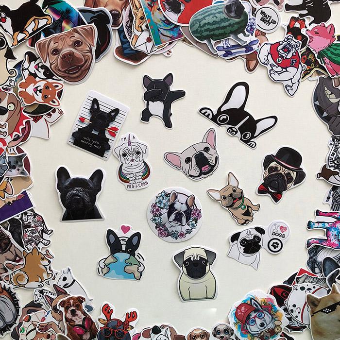 Bộ 20 Sticker Dog (2020) Hình Dán Chó Cún Con Dễ Thương Chống Nước Decal Chất Lượng Cao Trang Trí Va Ly Du Lịch Xe Đạp Xe Máy Xe Điện Motor Laptop Nón Bảo Hiểm Máy Tính Học Sinh Tủ Quần Áo Nắp Lưng Điện Thoại